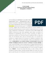 Acta Notarial de Representante Legal (Fredy)