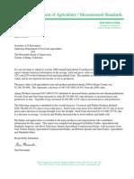 CDFA Letter