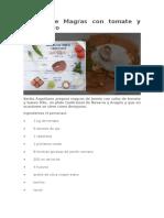 Receta de Magras Con Tomate y Huevo Frito