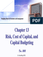 Chapter 13 Risk, Cost of Capital and Capital Budgeting