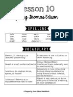 Lesson 10 Study Guide
