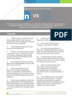 Linkedin Versus Resume