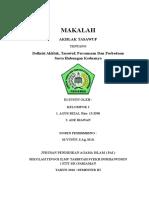 makalah Definisi Akhlak, Tasawuf, Persamaan Dan Perbedaan Serta Hubungan Keduanya
