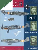 Kagero Asy Lotnictwa 03 Heinz Ewald,Walter Wolfrum,Werner Hohenburg