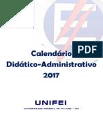 Calendário Didático 2017