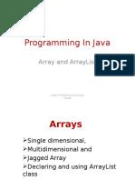 Array and ArrayList