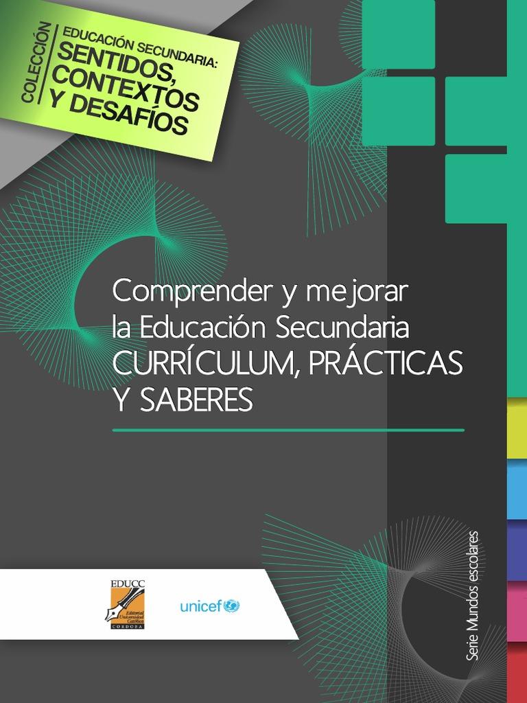 Comprender Mejorar Educación Secundaria Curriculum Practicas Saberes