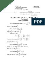 Chestionar Simulare Matematica 2003