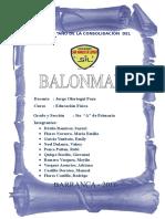MONOGRAFIA BALONMANO