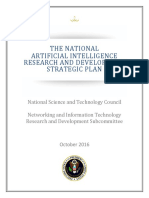 The National Artificial Intelligence Research And Development Strategic Plan