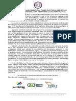 COMUNICADO  Nro. 5: AUTONOMIA CNE Y REFERENDUM REVOCATORIO PRESIDENCIAL