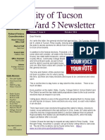 October 2016 - Ward 5 Councilmember Richard Fimbres' Newsletter