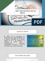 El Rol Del Psicólogo en El Dece