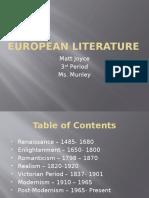 European History Literature