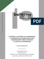 Lopes Matsushita - El Derecho La Sociedad de La Informacion Y El Principio de La Neutralidad en Red