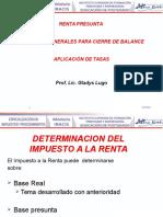 5 Renta Presunta y Aspectos Generales Para Cierre de Balance