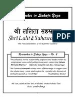 Shri Lalita Sahasranama