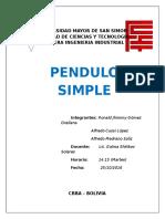 INFORME 3 Pendulo Simple1