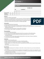 Business Explorer Business Activities Level1 Oral Interviews Activities Level and Scoring Sheet