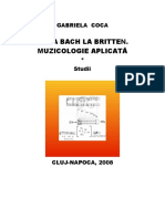 De La Bach La Britten. Muzicologie Aplic