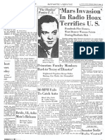 Rocky Mountain News coverage of Orson Welles' 'War of the Worlds'