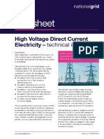 High Voltage Direct Current Electricity – Technical Information