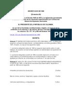 Decreto 3019 de 1989 Estatuto Tributario
