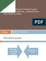 Pengantar Prinsip-prinsip Sains Dalam Keperawatan