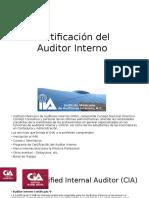 Certificación Del Auditor Interno