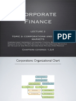 BCOR 2000 Corporate Finance Lecture 2