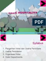Basic Hospitality - Syllabus
