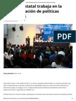 14/10/16 Gobierno Estatal Trabaja en La Implementación de Políticas Incluyentes - Termómetro en Línea