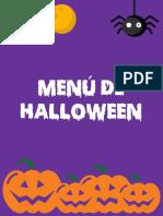 Menú Halloween