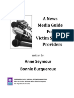 A News Media Guide For Victim Service Providers