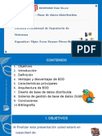 Clase Modelo de Base de Datos Distribuidas