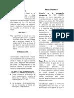 Informe de Fisica 3 Tomografia de Rayos x