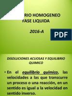 Euilibrio Homogeneo 2016-A