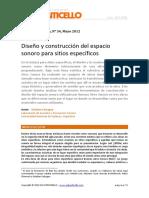 Calcagno - Diseño y construcción del espacio sonoro para sitios específicos 20120520_PD