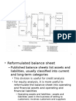 Reformulating Financial Statements