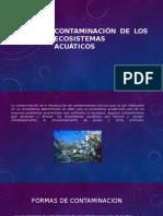 Contaminación de Los Ecosistemas Acuáticos