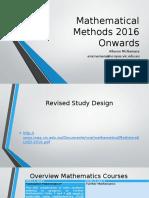 Mathematical Methods 2016 Onwards