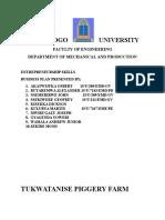 Piggery farm Plan