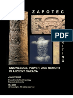 Knowledge, Power, And Memory in Ancient Oaxaca [Urcid, Javier]