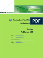 Juniper Netscreen NS 5GT Series & GreenBow IPSec VPN Client Software Configuration