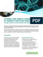 Cloning and Genetic Engineering of Animals for Food Production Summary (1)
