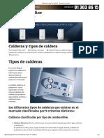 Calderas y Tipos de Caldera - Openclima Online