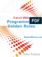 Excel VBA Programming Golden Rules