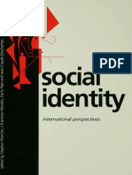 Stephen Worchel, J Francisco Morales, Dario Paez, Jean-Claude Deschamps Social Identity International Perspectives