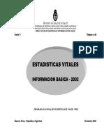 Dirección Nacional de Estadísticas Vitales. Anuario2002
