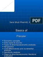 Basics of Pharmacoeconomics and Outcomes Research